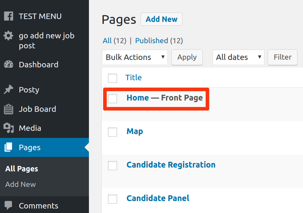 job pages