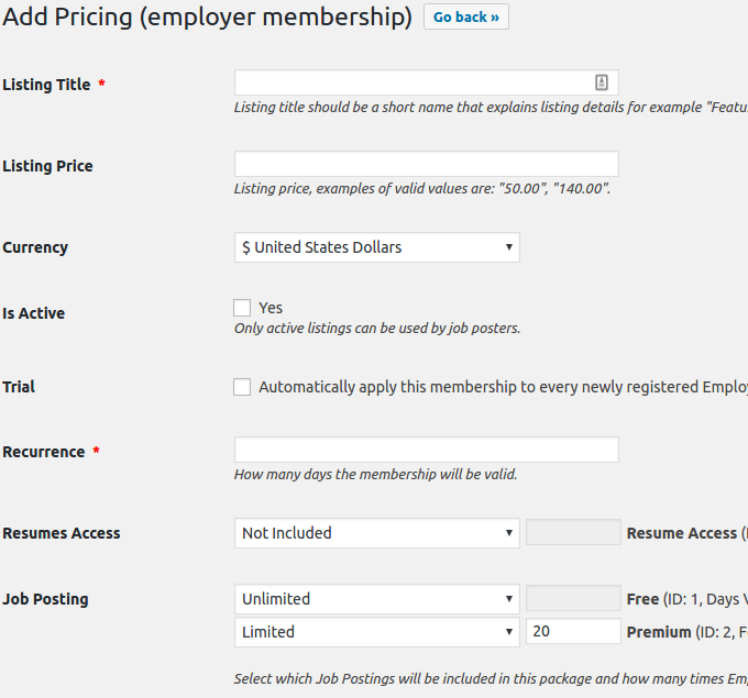 Pricing and Payments | WPJobBoard KB