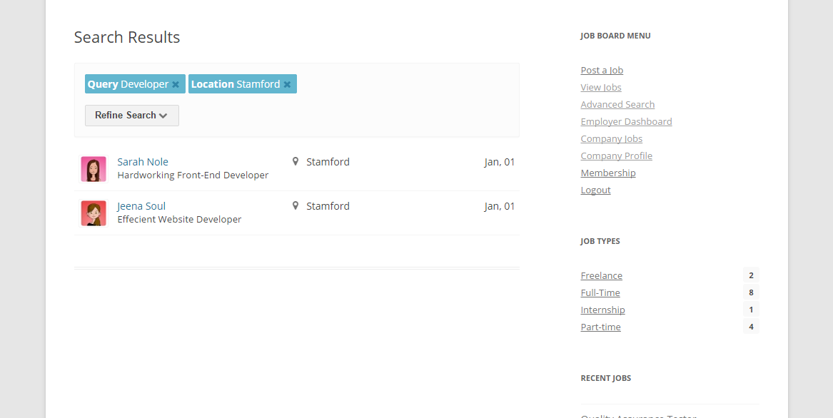 advanced resumes search