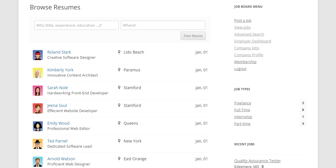 Resume Database Archives - WPJobBoard